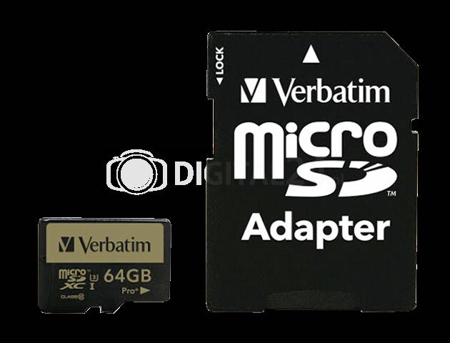 Karta pamięci Verbatim MicroSDXC Pro+ 64GB Class 10 UHS-I + adapter