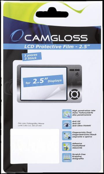 "Camgloss uniwersalna osłona na ekran 6,4 cm (2,5"") 3 sztuki"