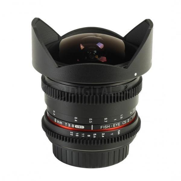 Obiektyw Samyang 8 mm T3.8 Canon VDSLR Fish-eye CSII
