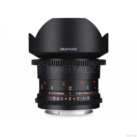 Obiektyw Samyang 14 mm T3.1  II VDSLR Canon