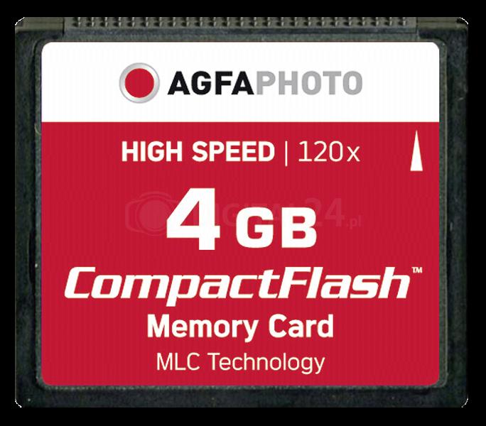 Karta pamięci AgfaPhoto Compact Flash 4GB High Speed 120x MLC
