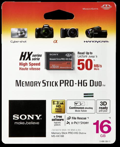Karta pamięci Sony Memory Stick Pro HG Duo HX 16GB 50MB/s