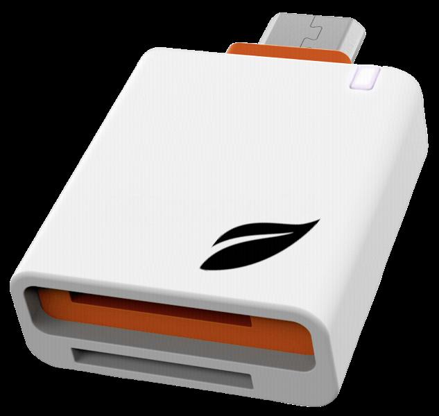Czytnik Leef Access Mobile OTG biało/pomarańczowy
