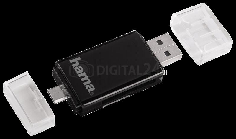 Czytnik Hama USB 2.0 2w1 OTG SD/microSD