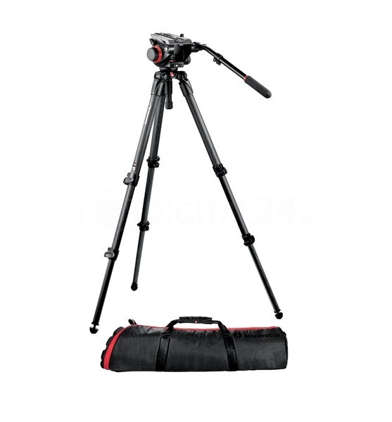 Statyw Manfrotto 535 MPRO + gł. 504hd + torba MBAG 100PN