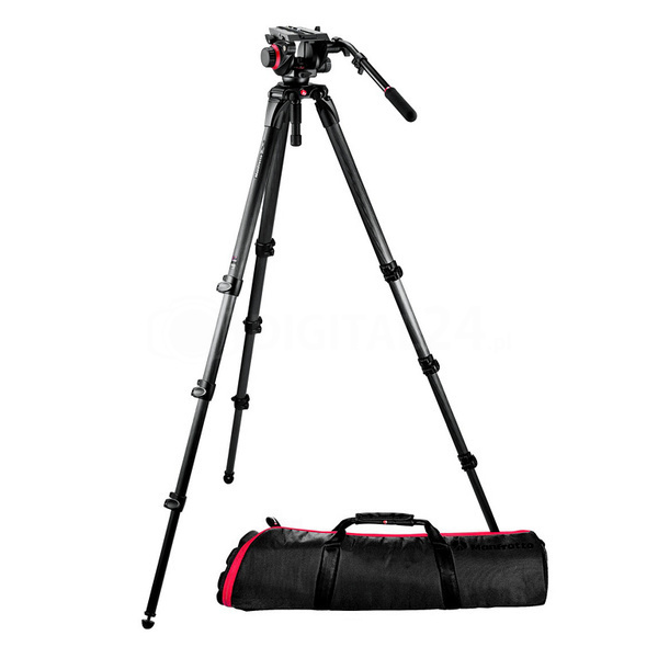 Statyw Manfrotto Video 536K + gł. 504hd + torba MBAG 100PN