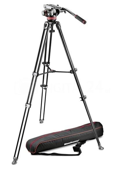 Statyw Telescopic Twin Leg Video Manfrotto MVK502AM-1 + gł. MVH502A