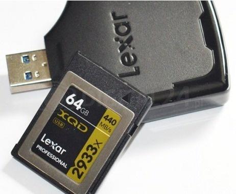 Karta pamięci Lexar XQD 64GB 2933x Prof + czytnik XQD 2.0 USB 3.0
