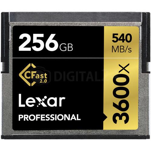 Karta pamięci Lexar CFast 2.0 256GB 3600x Professional
