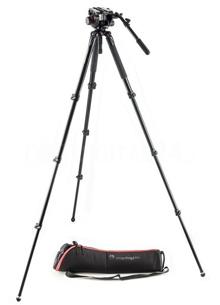 Statyw Manfrotto 535AQ + gł. 504HD + torba MVK504AQ