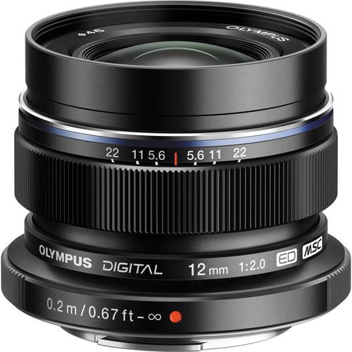 Obiektyw Olympus M.Zuiko 12mm F2/czarny