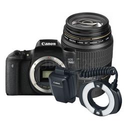 Zestaw stomatologiczny Canon EOS 760D + ob. 100 mm Macro + lampa MR-14EX II