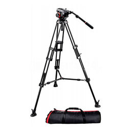Statyw Manfrotto Video Pro 546B + gł. 504hd + torba MBAG 100PN