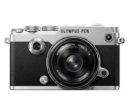 Aparat cyfrowy Olympus PEN-F srebrny + 17mm f/1.8 czarny