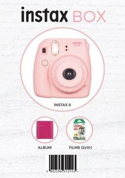 Fujifilm INSTAX 8 BOX Różowy - aparat, 2 wkłady, futerał
