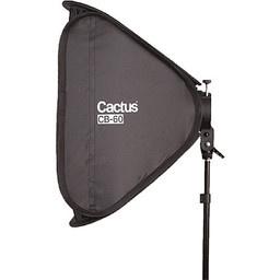 Cactus składany softbox z gridem 60 cm srebrny  + uchwyt
