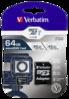 Karta pamięci Verbatim MicroSDXC Pro 64GB Class 10 UHS-I + adapter