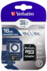 Karta pamięci Verbatim MicroSDHC Pro 16GB Class 10 UHS-I + adapter